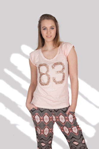 Tramontana-T-Shirt-R08-78-405-Sequins-Nude