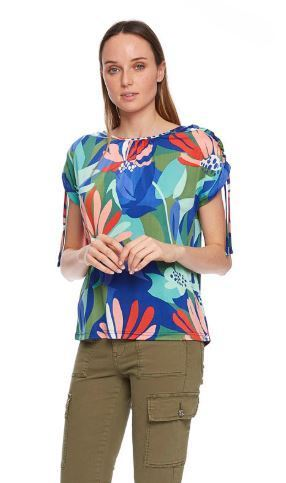 Md'M-T-Shirt-S30-84202720-Huge Flowers